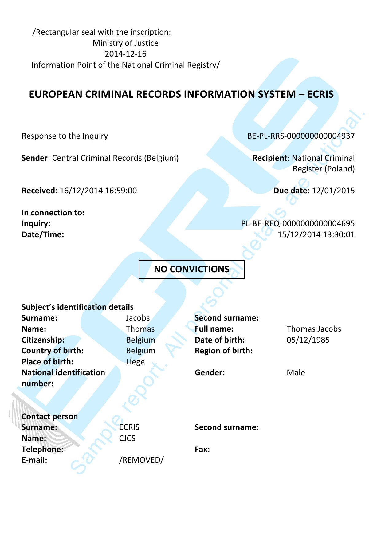belgian criminal record check from casier judiciaire