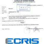 Sample of an Italian criminal record certificate from the Criminal Records Bureau (Casellario Giudiziale).