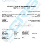 Sample of a Latvian criminal record certificate from the Punishment Register (Latvijas Republikas Iekšlietu Ministrijas Informācijas Centrs).