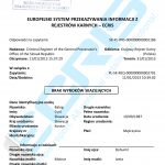 Sample of a Slovak criminal record certificate from the Criminal Register of the General Prosecutor's Office of the Slovak Republic (Register trestov Generálnej Prokuratúry Slovenskej Republiky).