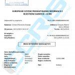 Sample of a Croatian criminal record certificate from the Criminal Records Section (Odjel Kaznene Evidencije).