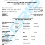 Sample of a Czech criminal record certificate from the Criminal Records Office (Rejstřík Trestů).