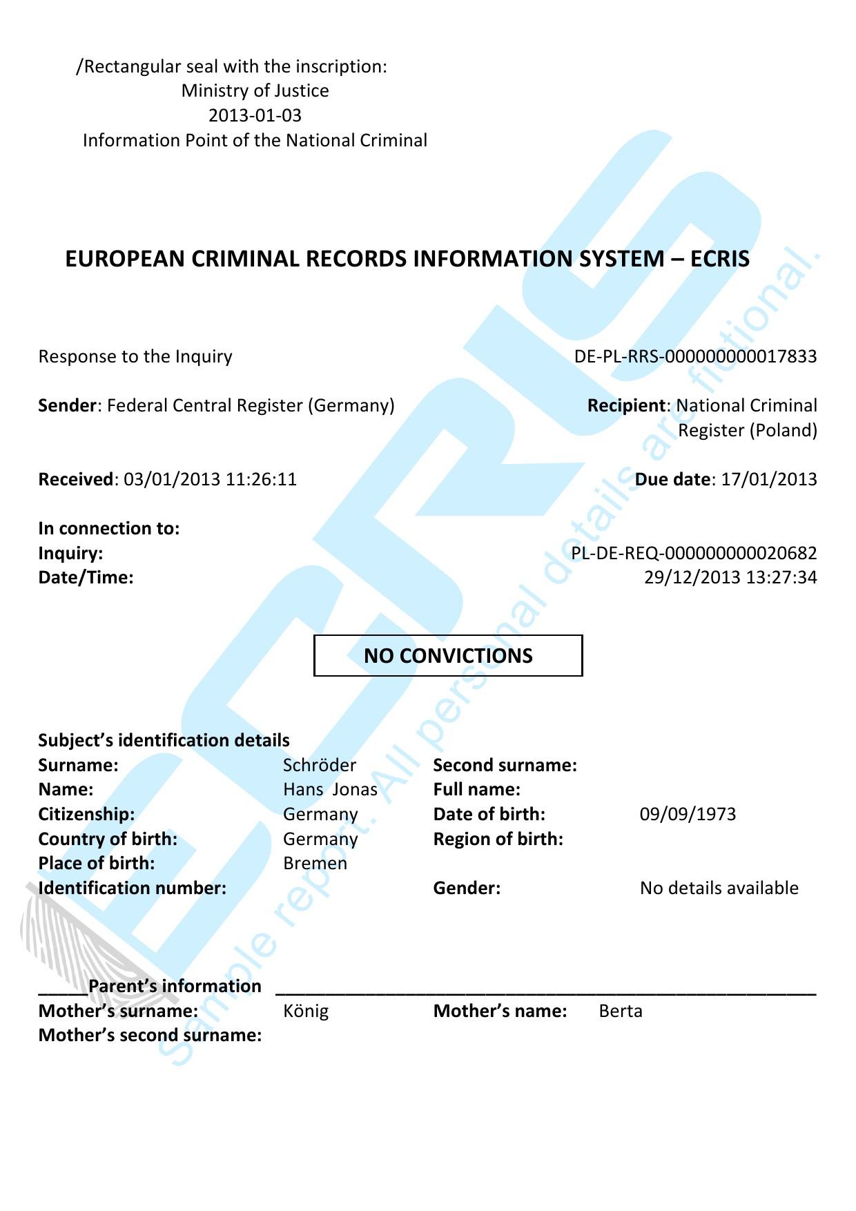 German criminal record check from federal central criminal register request a certificate altavistaventures Images