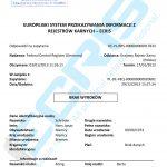Sample of a German criminal record certificate from the Federal Central Criminal Register (Bundeszentralregister)