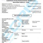 Sample of a Lithuanian criminal record certificate from the Institutional Register of Suspected, Accused and Convicted Persons (Įtariamų, Kaltinamų ir Teistų Asmenų Žinybinio Registro Duomenų Apie Fizinį Asmenį).