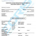 Sample of a Romanian criminal record certificate from the Central Criminal Records (Direcţia Cazier Judiciar, Statistică şi Evidenţe Operative, Inspectoratul General al Poliţiei Române).